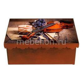 Шкатулка декоративная Акита (26х18х13 см) Скрипка 1826-17