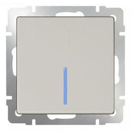Выключатель одноклавишный с подсветкой без рамки Werkel Слоновая кость WL03-SW-1G-LED-ivory