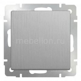 Выключатель проходной двухклавишный без рамки Werkel Серебряный рифленый WL09-SW-2G-2W