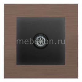 ТВ-розетки проходные Werkel без рамки Aluminium (Черный матовый) WL08-SW-3G+WL08-TV-2W
