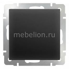 Выключатель одноклавишный без рамки Werkel Черный матовый WL08-SW-1G