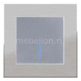 Выключатель одноклавишный с подсветкой Werkel без рамки Aluminium(Серебряный) WL06-SW-1G-C +WL06-SW-1G-LED