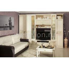 Стенка для гостиной Любимый Дом Гарнитур для гостиной Александрия кожа ленто/рустика