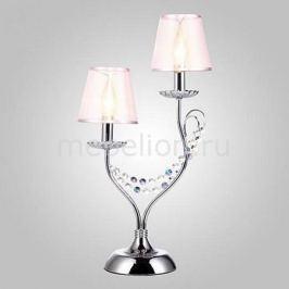 Настольная лампа декоративная Eurosvet 01069/2 хром/прозрачный хрусталь Strotskis