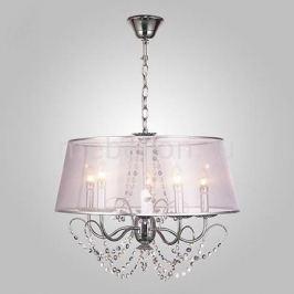 Подвесной светильник Eurosvet 10068/5 хром/прозрачный хрусталь Strotskis
