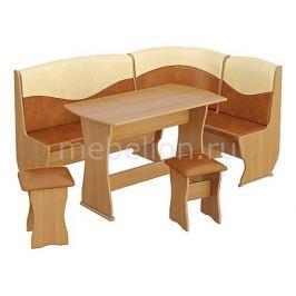Набор кухонный Мебель Трия Уголок кухонный Уют-2 Люкс ольха/бук/коричневый