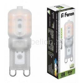 Лампа светодиодная Feron LB-430 G9 5Вт 220В 4000 К 25637
