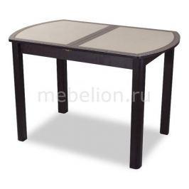 Стол обеденный Домотека Гамма ПО со стеклом и экокожей