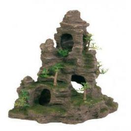 TRIXIE Грот Trixie для аквариума скалы с пещерой и растениями 31,5 см пластиковый