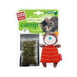 GiGwi GiGwi Игрушка для кошек Мишка с кошачей мятой 12 см