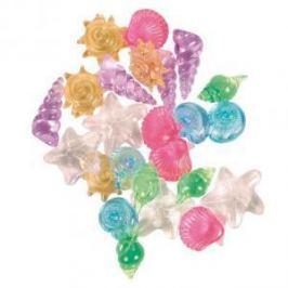 TRIXIE Ракушки Trixie для аквариума разноцветные прозрачные - 24 шт