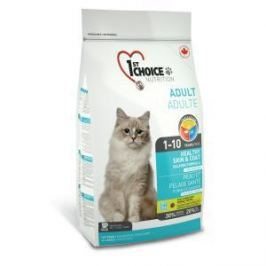 1st Choice 1st Choice Здоровая кожа и Шерсть для кошек с лососем - 5.44 кг