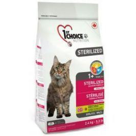 1st Choice 1st Choice Sterilized для кошек с курицей и бататом - 2.4 кг