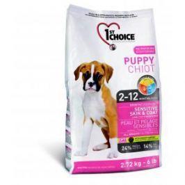 1st Choice 1st Choice Puppy для щенков с чувствительной кожей и для шерсти с ягненком, рыбой и рисом - 6 кг