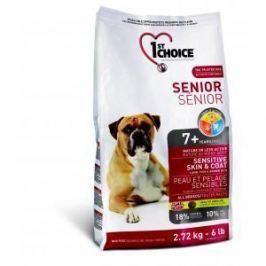 1st Choice 1st Choice Senior для пожилых собак с чувствительной кожей и для шерсти с ягненком, рыбой и рисом - 12 кг