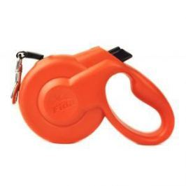 Fida Fida Styleash Стильная рулетка 5м с выдвижным шнуром для собак средних пород до 25 кг красная