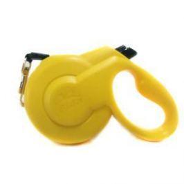 Fida Fida Styleash Стильная рулетка 5м с выдвижным шнуром для собак мелких пород до 15 кг желтая