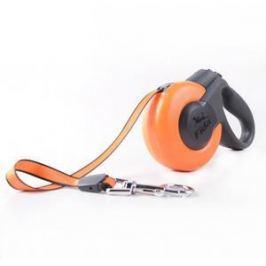 Fida Fida Mars Рулетка 5м трос для собак средних пород до 25 кг оранжевая/черная