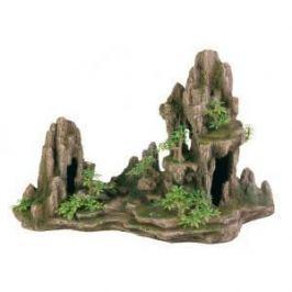 TRIXIE Грот Trixie для аквариума скалы с пещерой и растениями 45 см пластиковый