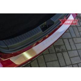 Накладка на наруж. порог багажника с рисунком (хэтчбек 5D) Souz-96 MAZ3.36.3932 для Mazda 3 2013-2017