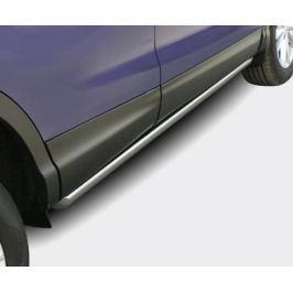 Пороги труба 75х42 мм овальная Souz-96 NQSH.80.5075 для Nissan Qashqai 13-