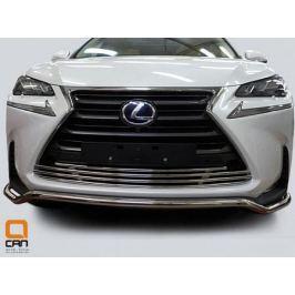 Защита переднего бампера (одинарная) d42 для Lexus NX 2015 г.в по н.в.