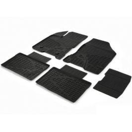 Коврики салона (литьевые), чёрные (SD) Rival 66002002 для LADA Vesta 2015-