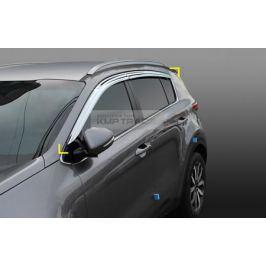 Дефлекторы на окна хромированные для KIA Sportage IV 2016 -