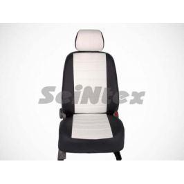 Чехлы на сиденья (экокожа), цвет - чёрный + белый (Trend) Seintex 86699 для Ford Kuga 2017-