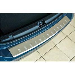 Накладка на задний бампер с загибом, зеркальная Alu-Frost 40-3674 для Mazda CX-5 (2015 - 2017)