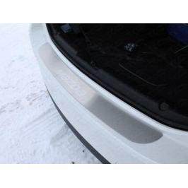 Накладка на задний бампер (лист шлифованный надпись Mazda) ТСС MAZ615-10для Mazda 6 (2015 - 2017)