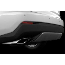 Накладка на задний бампер, серебристая Lexus PZ402X095100, плоская для Lexus NX 2015 г.в по н.в.