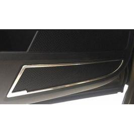 Окантовка нижних динамиков передней двери, ABS Silver, 2 части OEM-Tuning 37480 для SKODA KODIAQ (2017 - по н. в.)