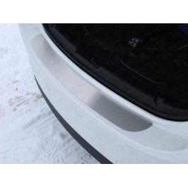 Накладка на задний бампер (лист шлифованный) ТСС MAZ615-08 для Mazda 6 (2015 - 2017)
