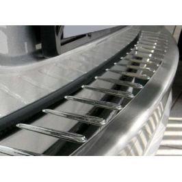 Накладка на задний бампер с силиконом, нерж. сталь (4D) Alu-Frost 10-3842 для FORD Focus III (2011 - 2015 )