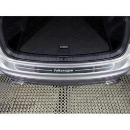 Накладка на задний бампер (лист шлифованный) VWTIG17-41 для Volkswagen Tiguan 2017-