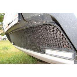 Защита радиатора, чёрная (с вырезом под ДХО) Allest RDUS.DHO.black для Renault Duster 2011-