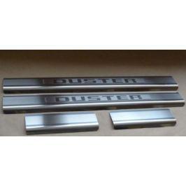 Накладки на внутренние пороги с надписью, нерж. сталь, 4 шт. Alu-Frost 08-1352 для Renault Duster 2011-