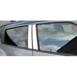 Накладки на внешние стойки дверей, 4 части, алюминий Alu-Frost 37-5304 для Renault Duster 2011-