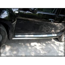 Пороги (окантовка штатного порога по форме короба) d-60 Технотек RD 2.1 для Renault Duster 2011-