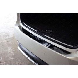 Накладка на задний бампер (лист зеркальный надпись Lexus) ТСС LEXRX200t15-14 для LEXUS RX ( 2015 - по н. в. )