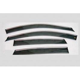 Дефлекторы боковых окон с хромированным молдингом, OEM Style (хетчбек) OEM-Tuning 16689 Hyundai Solaris 2011-