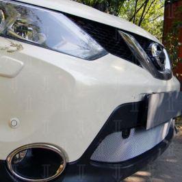 Защита радиатора, хром (с парктроником) Allest NQAS14.park.chrome для Nissan Qashqai 13-