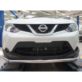 Защита переднего бампера одинарная d 60 мм, нерж. (сборка Англия) CAN Otomotiv NIQA.33.2080 для Nissan Qashqai 13-