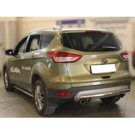 Защита заднего бампера трубообразная двойная d-60 Технотек FK2013_4 для Ford Kuga 2017-