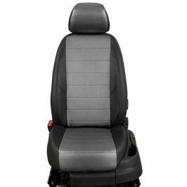 Чехлы на сиденья (экокожа), цвет - чёрный + серый (Trend) Seintex 86700 для Ford Kuga 2017-