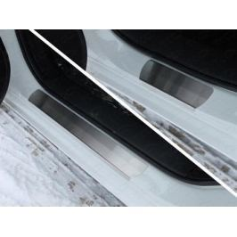 Накладки на пороги (лист шлифованный) ТСС MAZ615-04 для Mazda 6 (2015 - 2017)