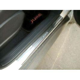 Накладки на внутренние пороги с надписью, нерж. сталь, 4 шт. Alu-Frost 08-0839 для NISSAN Juke (2010 - по н.в.)