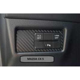 Карбоновая наклейки на блок управления парктрониками для Mazda CX-5 2017 -