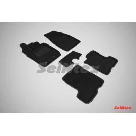 Коврики салона текстильные 3D, чёрные Seintex 87324 для LADA Vesta 2015-